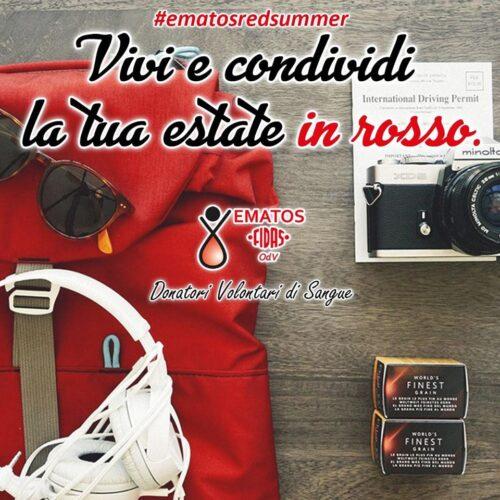 Al via l'Ematos Red Summer: vivi e condividi la tua estate in rosso
