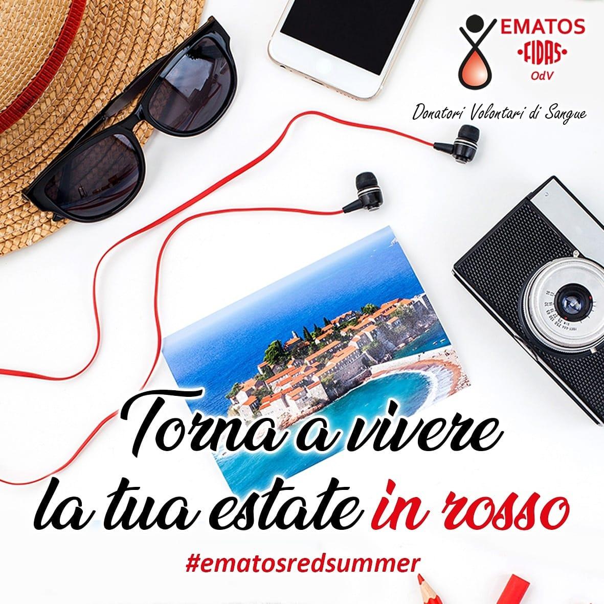 Torna l'Ematos Red Summer: vivi e condividi la tua estate in rosso